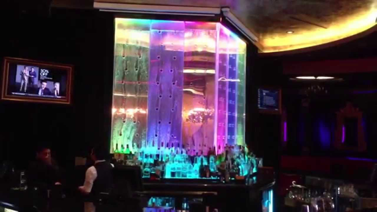 Custom Bubble Walls In Bar Water Feature Mounted Behind