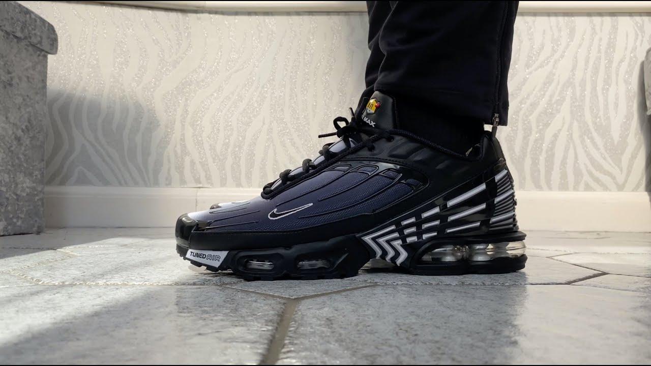 Nike Air Max Plus III 3 TN Tuned Obsidian Men's Trainers Sneakers On Feet