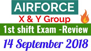 14 September 2108, Airforce x and y group exam review, Msd airforce exam review,