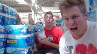 Building a Toilet Paper Fort!!