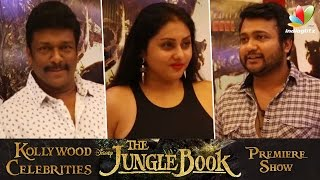Namitha, Bobby Simha, Parthiepan and More celebrities at Jungle Book Premiere Show