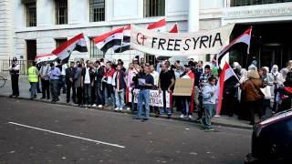 Free Syria Protest Outside Chinese Embassy London 24/09/2011