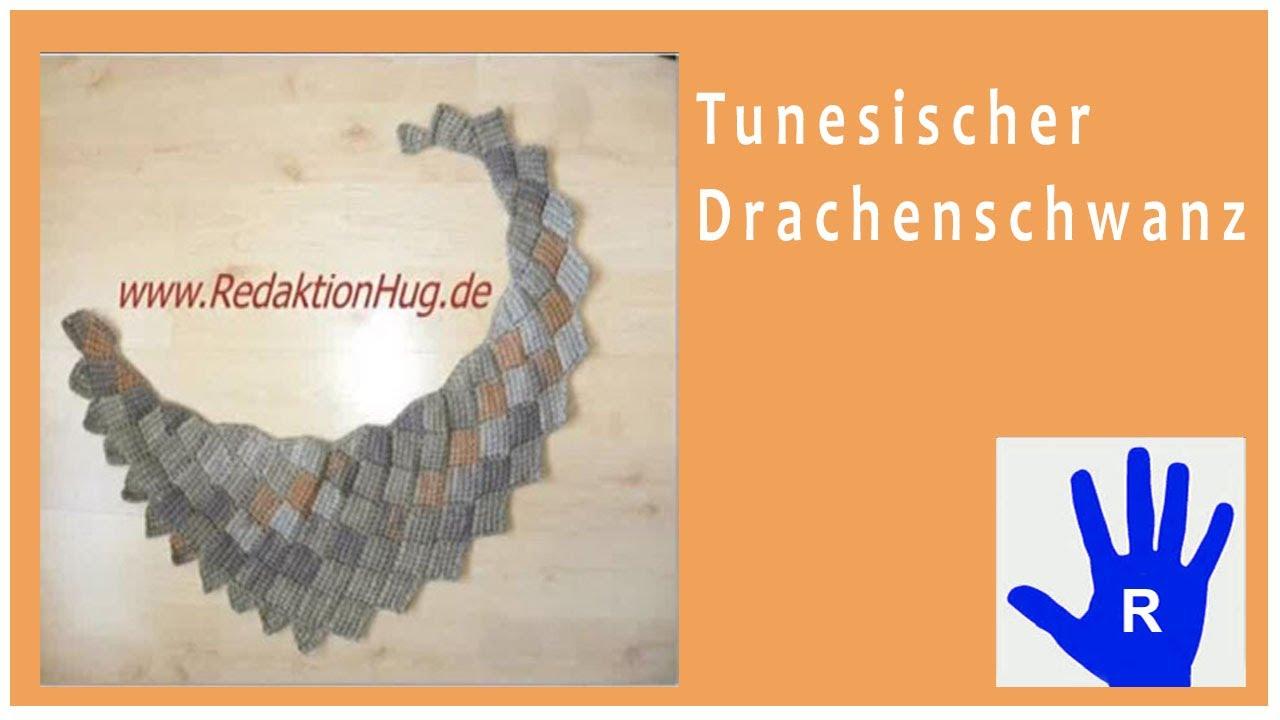 Tunesisch Häkeln Drachenschal Im Entrelac Aus Pastello Von Pro