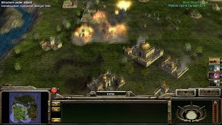 Toxin General VS Super Weapon and Inf General - Command and Conquer Generals: Zero Hour Gameplay