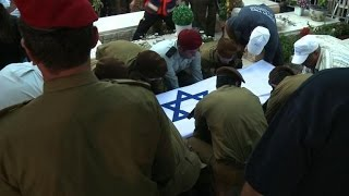 Funeral held for French-Israeli soldier killed in Gaza