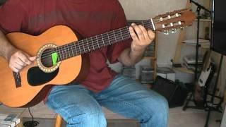 Une façon d'accompagner Avec le temps Léo Ferré ( Cours de guitare débutants )