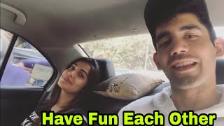 Divya Agarwal And Varun Sood have some fun each other in car