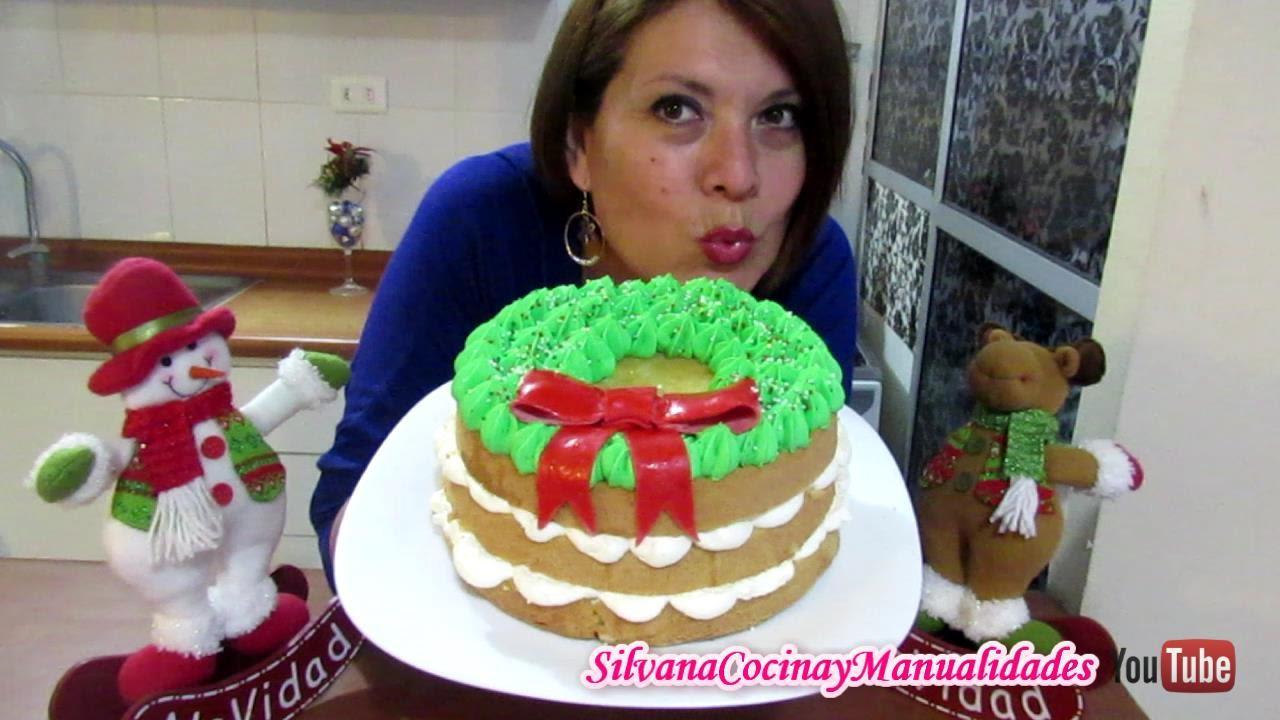Navidad Torta Buttercream Navideña Silvana Cocina Youtube