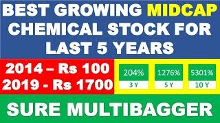Best growing stock in last 5 years | multibagger stocks 2019 India | Best share to buy for long term