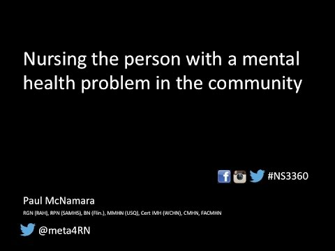 Nursing the person with a mental health problem in the commu
