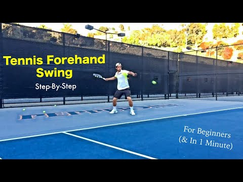 Tennis Forehand Swing - Step By Step - For Beginners