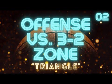 """""""Triangle"""" Offense vs. 3-2 or 1-2-2 Zone Defense"""