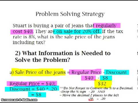 how to solve discount math problems