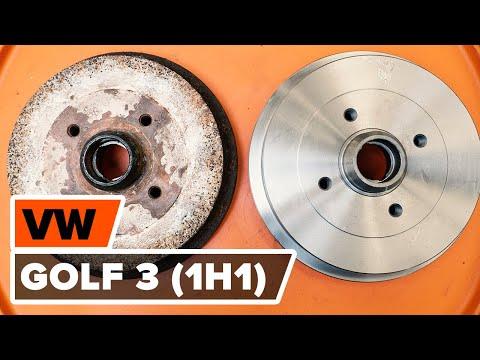 Как заменить задние тормозные барабаны наVOLKSWAGEN GOLF 3 (1H1) [ВИДЕОУРОК AUTODOC]