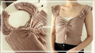 뜨개로그 | 코바늘 크롭탑 Crochet Top - 렌…