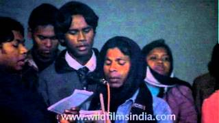 Hindi language song in Indian church during Christmas