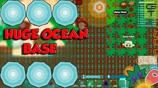 STARVE.IO - BIG DIAMOND OCEAN BASE // DRAGON SPEAR + WINTER PEASANT'S TUNIC
