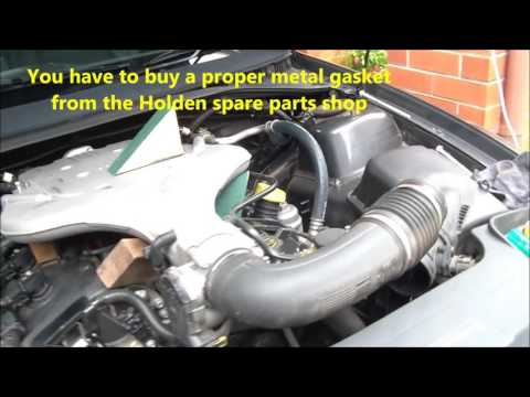 How to change spark plugs on Holden Commodore VZ 2007 - YouTube