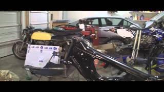 YZ125 Part 23: 2 Stroke Installing Motor, Swing Arm and Triple Tree