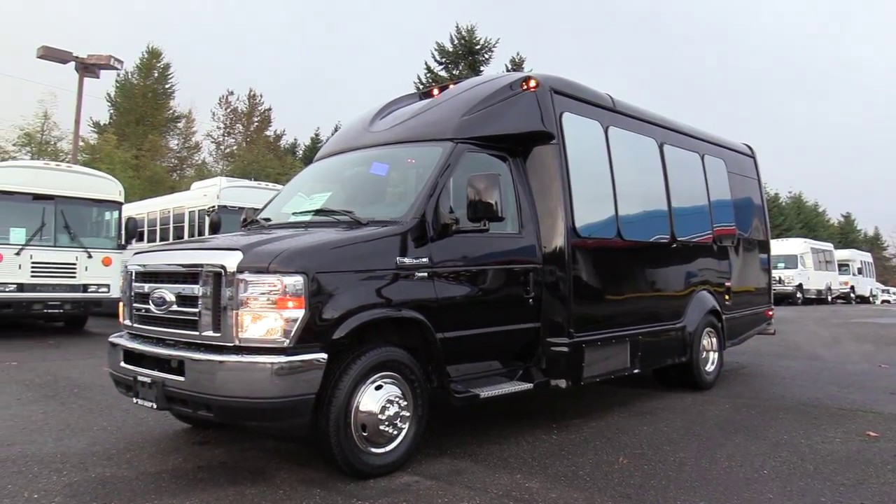 medium resolution of 2015 ford starcraft starquest 14 passenger w rear luggage shuttle bus s07383
