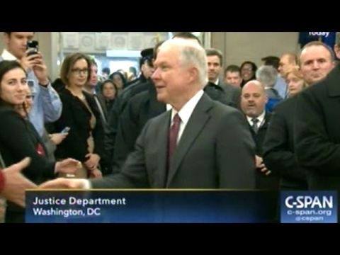 Jeff Sessions Get Warm Welcome At Department Of Justice