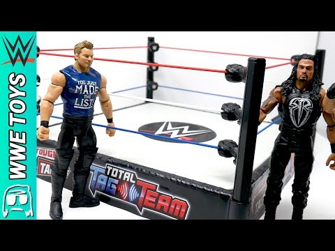 WWE Tough Talkers Total Tag Team Ring Toy Playset Unboxing, Construction & Review!!