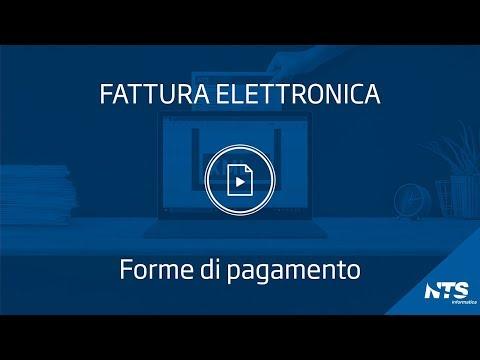 Fattura elettronica: tabelle - Forme di pagamento