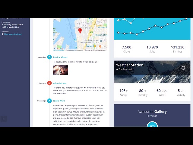 Proui Responsive Bootstrap Admin Template Youtube
