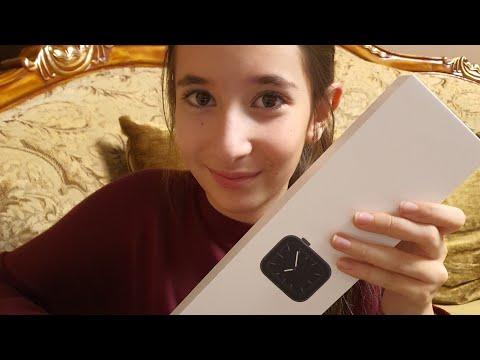 Распаковка часов  Apple watch series 5 space gray.