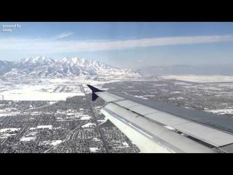 Airbus A319 Sunny Landing at Salt Lake City