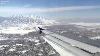Airbus A319 Sunny Landing at Salt Lake City