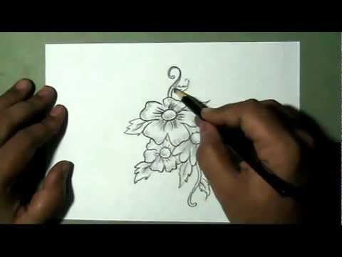 How To Draw A Bunch Of Flowers
