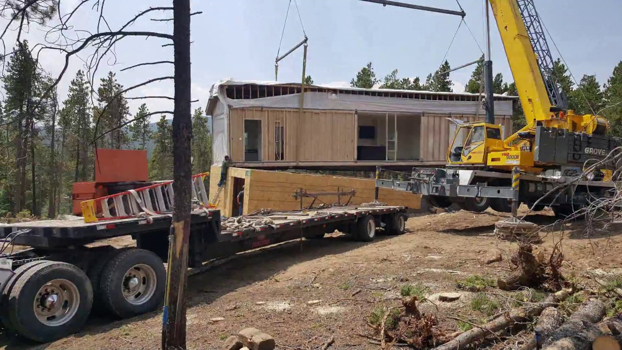 Clayton Homes Of Denver   Modular Home Crane Set   Blackhawk Colorado