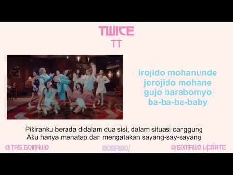 TWICE - TT [MV, EASY LYRIC, LIRIK INDONESIA]