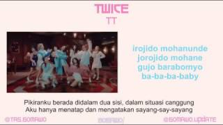TWICE TT MV EASY LYRIC LIRIK INDONESIA