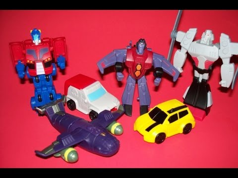 2008 McDONALDS TRANSFORMERS ANIMATED SET OF 6 FAST FOOD TOY REVIEW