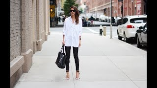 Casual chic black white outfit for summer 2017