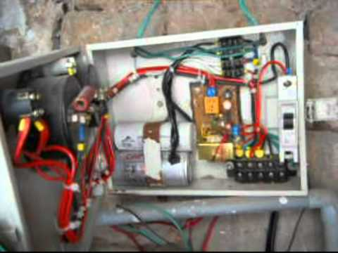 hqdefault automatic starter for submersible pump youtube submersible pump control panel circuit diagram at mifinder.co