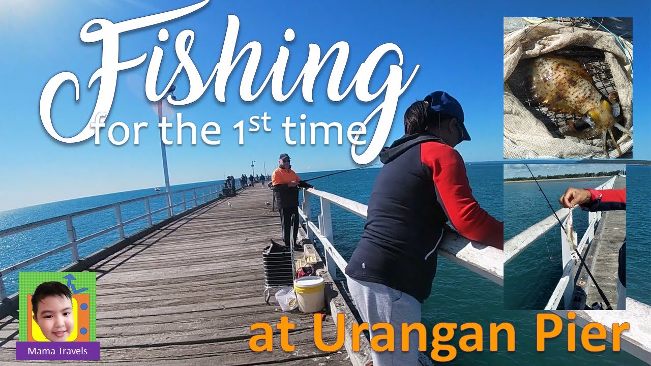 Fishing for the 1st time in Urangan Pier