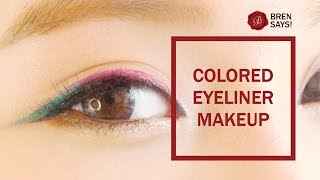 【BrenLui大佬B】Colored Eyeliner Makeup (Christmas 2014) Thumbnail