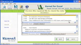 How to Recover a Corrupt Excel files