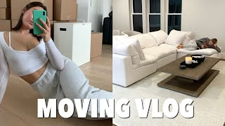 MOVING VLOG: moving into my new boston apartment + unpacking!