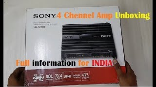sony Xplod XM-N1004 Car Amplifier. sony car amplifire unboxing .full unboxing and real review