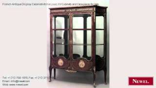 French Antique Display Cabinet/vitrine Louis Xv Cabinets