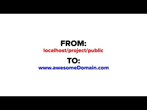 How to change localhost to custom domain name