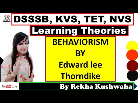 """Behaviorism by """"Thorndike"""" with their Law"""