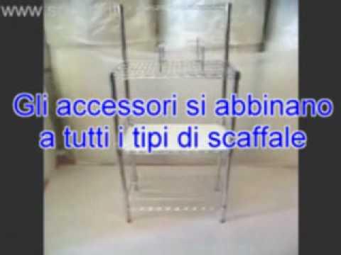 Socepi scaffale acciaio cromato youtube