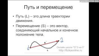 Бесплатный онлайн курс по физике  Подготовка к ЕГЭ. 1 урок