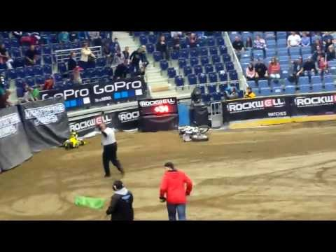 Libor Podmol CRASH - FIM Freestyle MX World Championship czech tepublic liberec