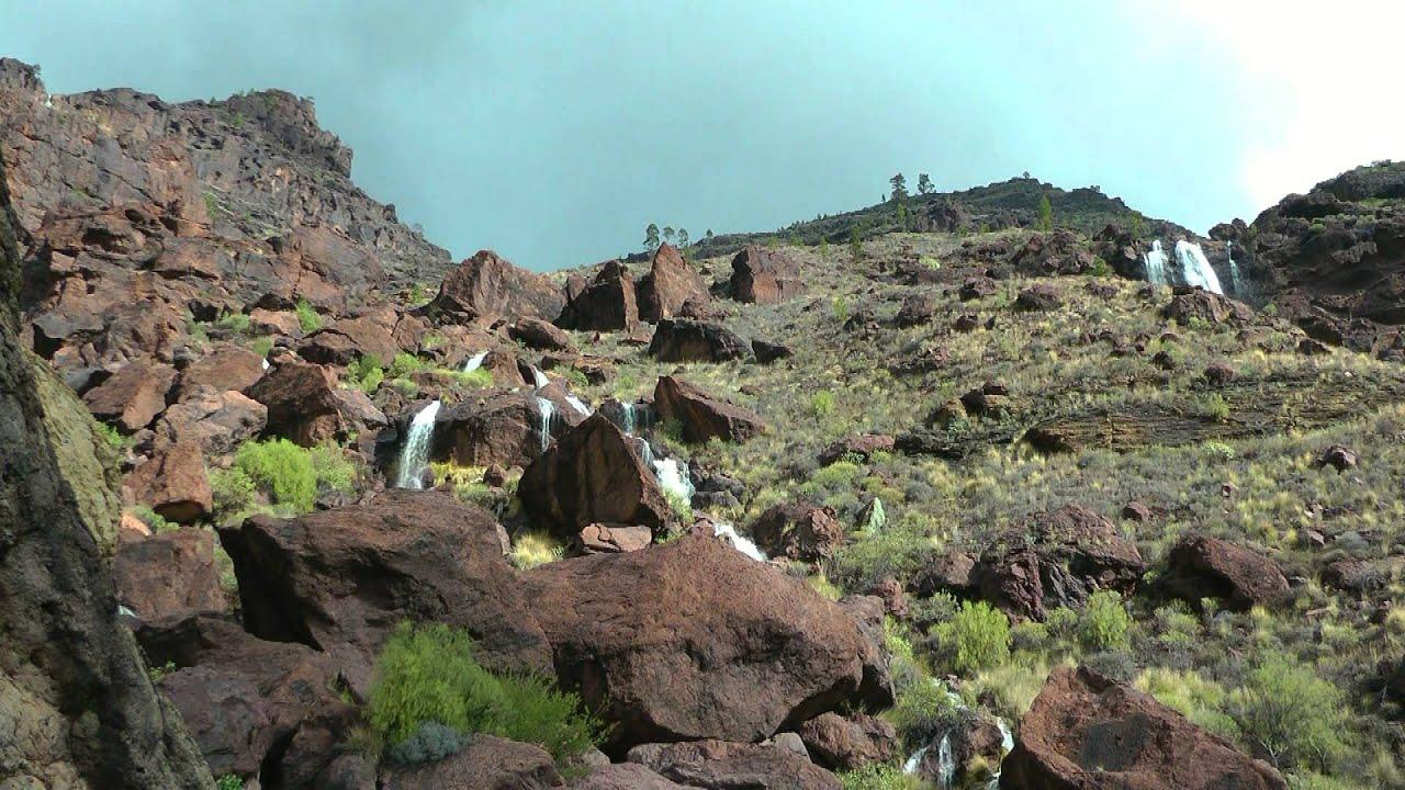 Spain waterfalls at fuente de los azulejos gran canaria - Los azulejos gran canaria ...